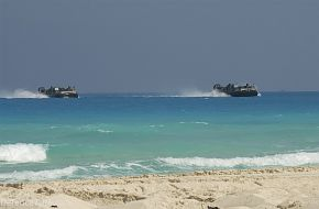 Bright Star Exercise 2005 - Two Landing Craft Utilities (LCU) carrying U.S.