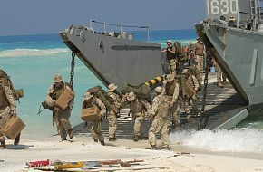 Bright Star Exercise 2005 - Landing Craft Utility (LCU) from the amphibious