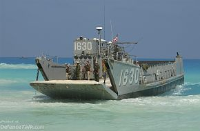 Bright Star Exercise 2005 - A Landing Craft Utility (LCU) carrying U.S. Mar