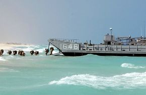 Bright Star Exercise 2005 - A Landing Craft utility (LCU)