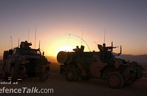Aussie Made bushmasters on patrol with 4RAR in Afghanistan