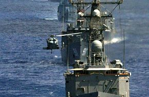 Bright Star 2005 - PNS Tariq - USS Ingraham and Egyptian Frigates