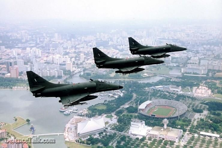 A-4s over Singapore