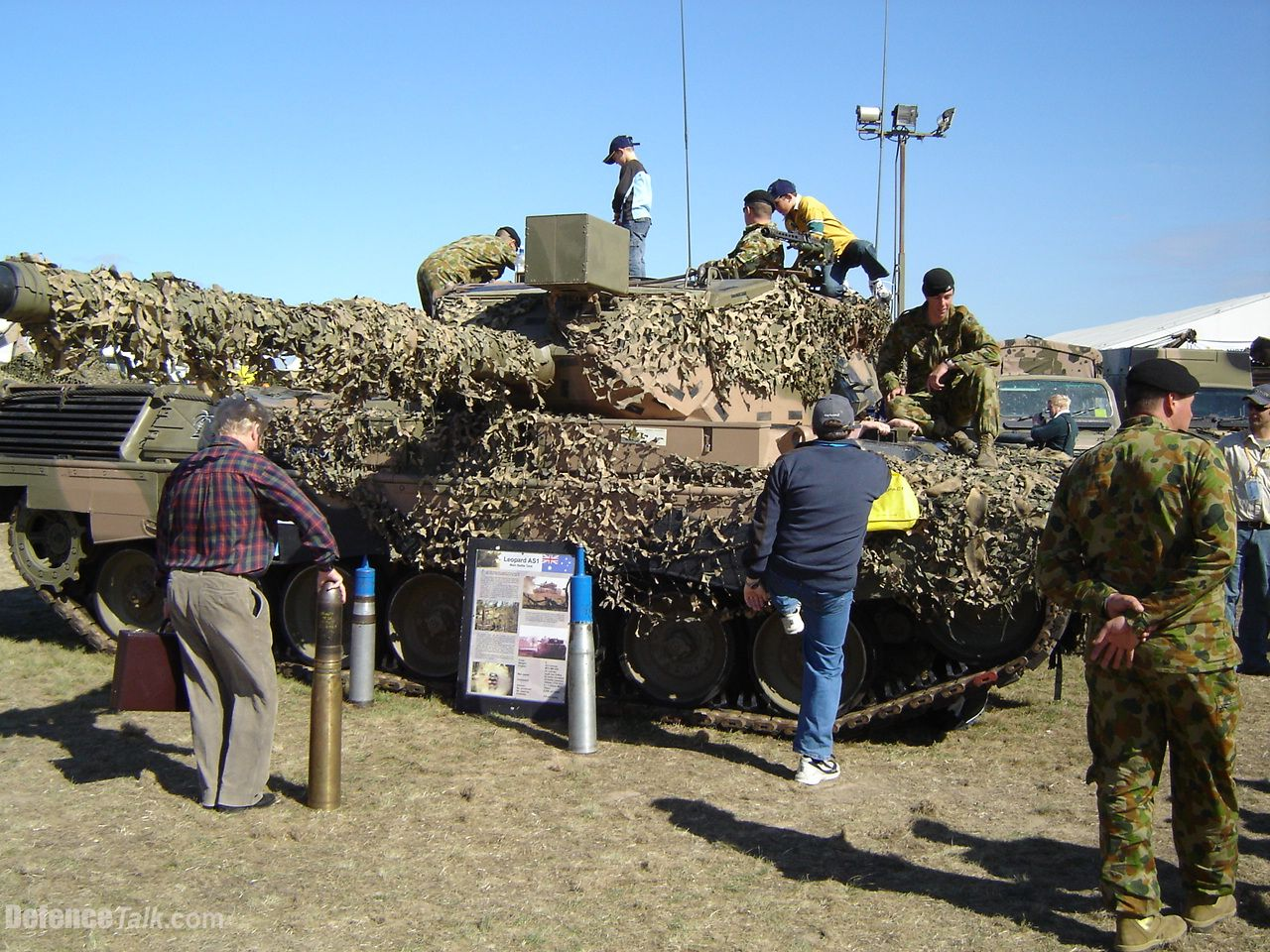 A Leopard AS1 MBT at Avalon Airshow