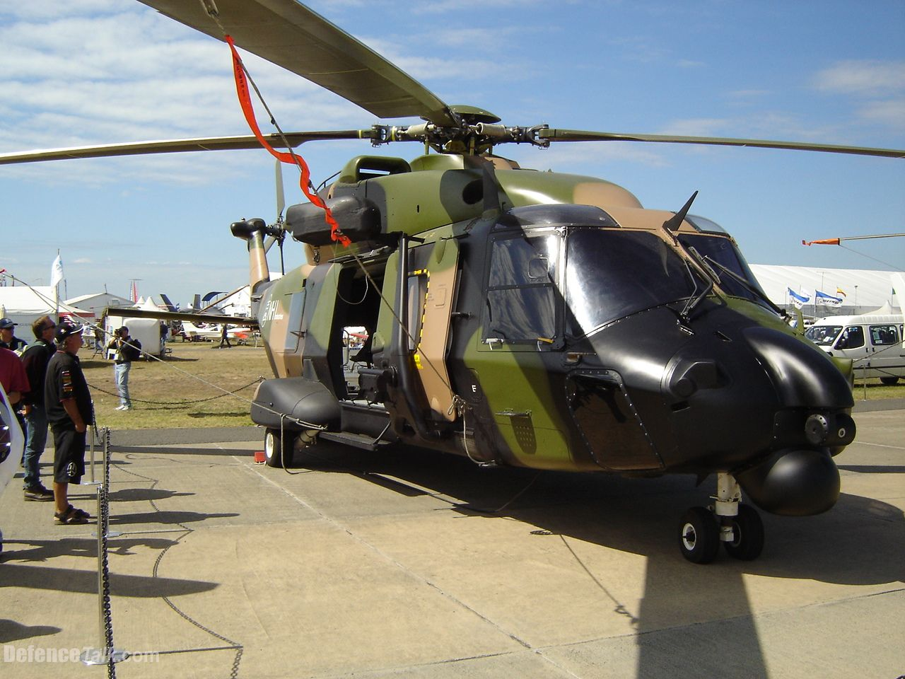 An NH-90 painted up in Australian Army colours to represent the forthcoming