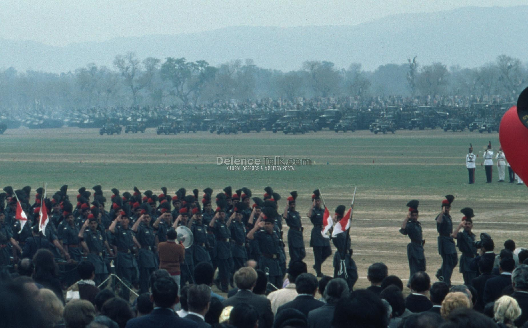 Army body guards - Pak National Day Parade, March 1976