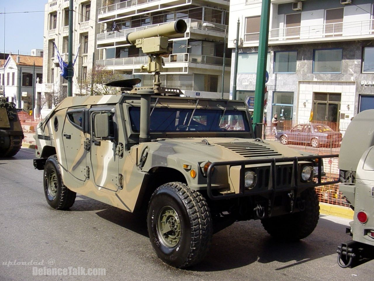 AT-14 Kornet mounded in a Hummer. Hellenic Army