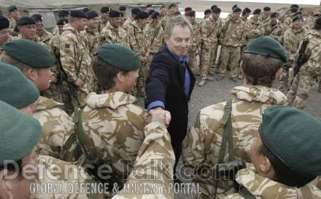British soldiers meet Blair - News Pictures