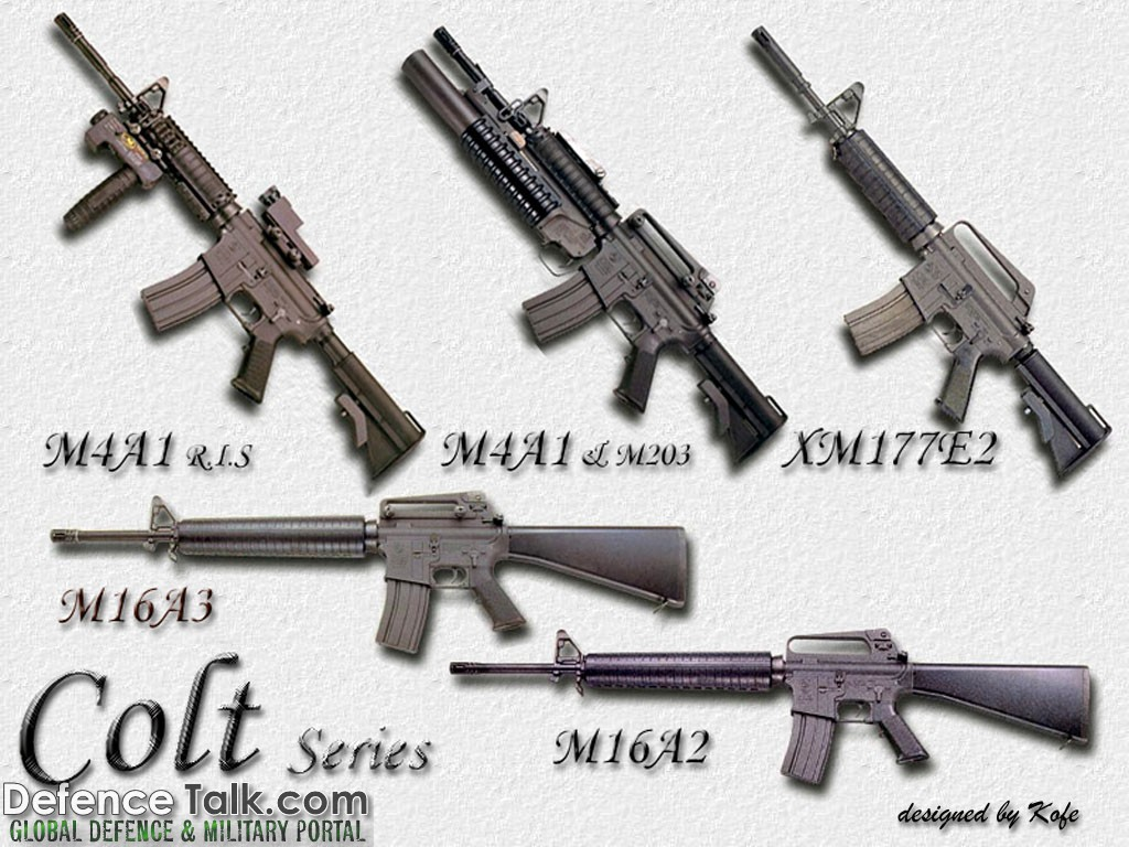 Colt Series Guns Military Weapons Wallpapers