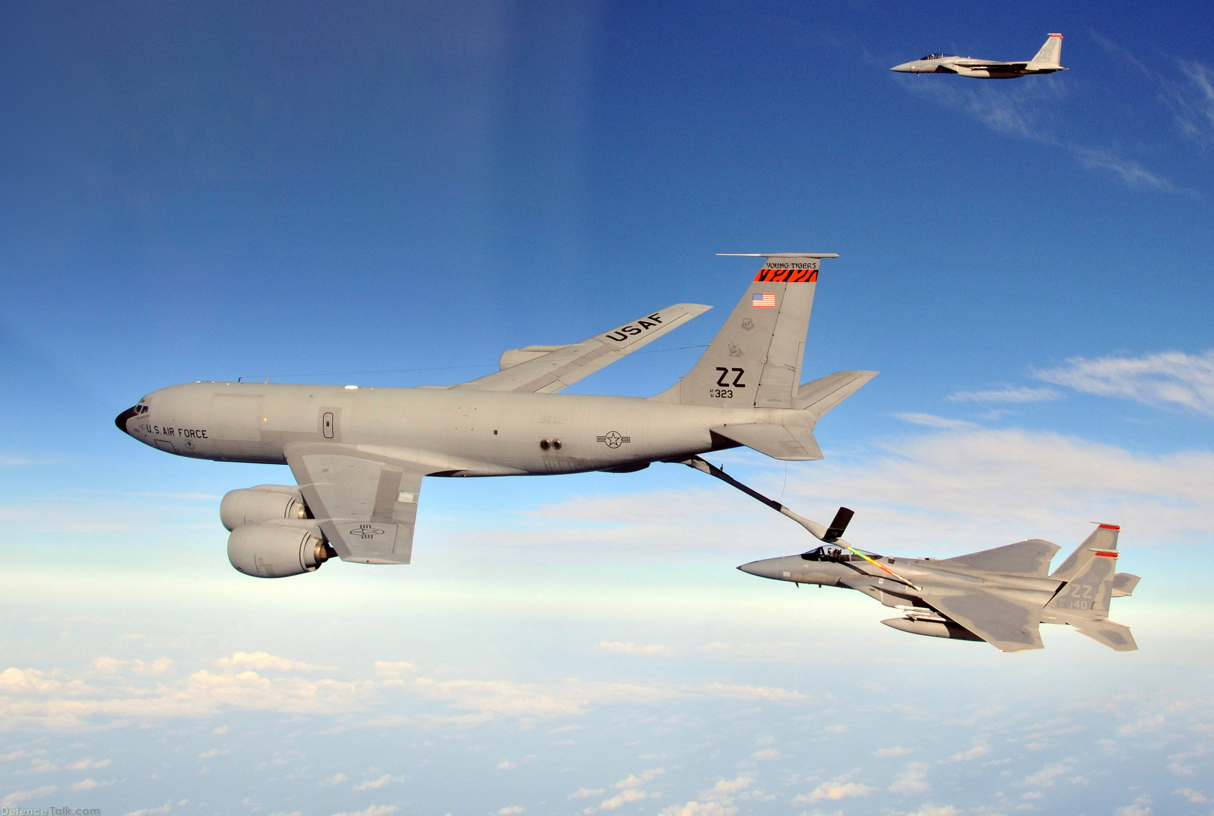 F-15C refueled by a KC-135 - US Air Force