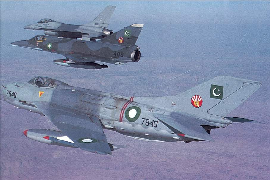 F-16,Mirage5,F-6 Farmer from CCS sargodha