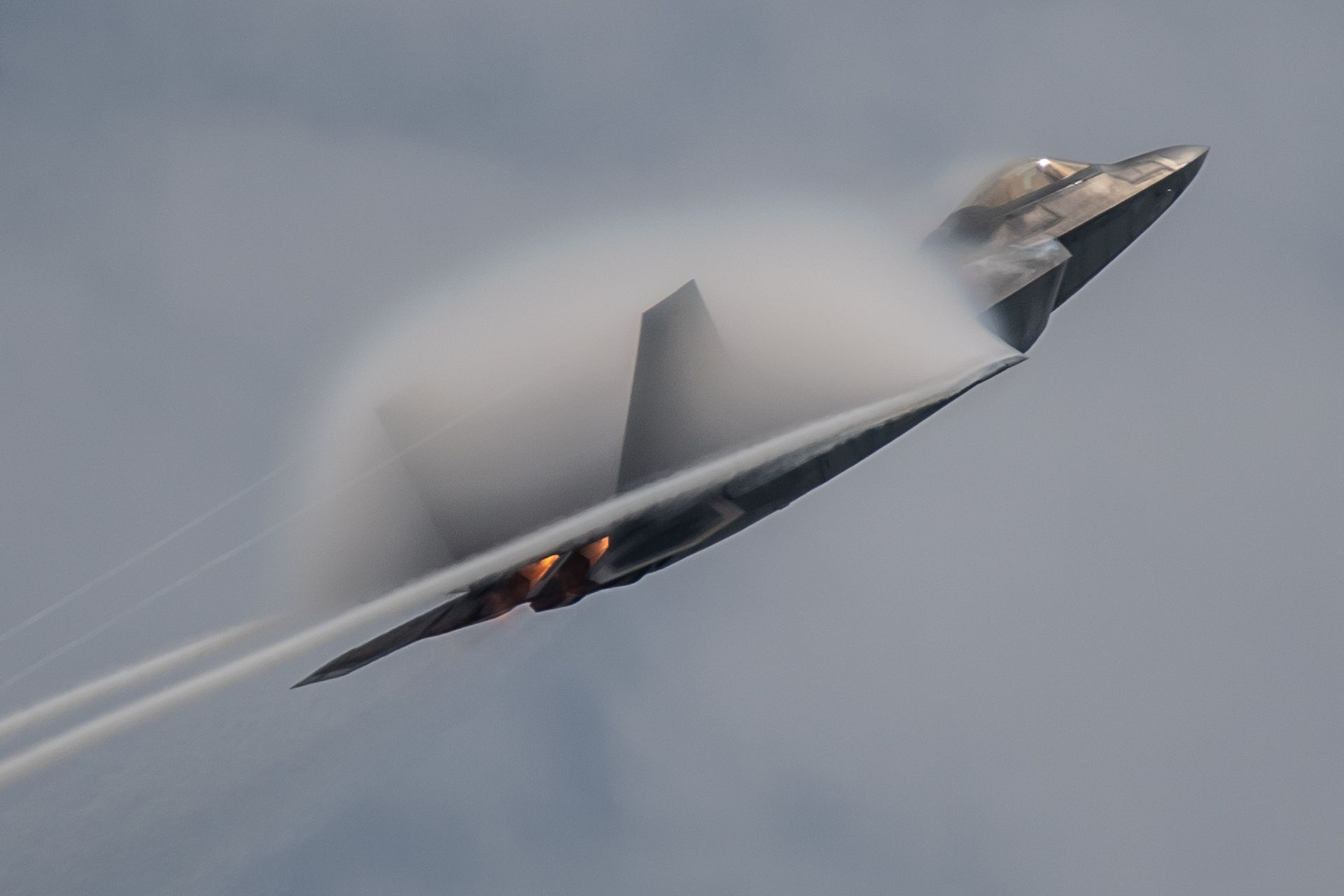 F-22 at the Singapore Airshow 2020