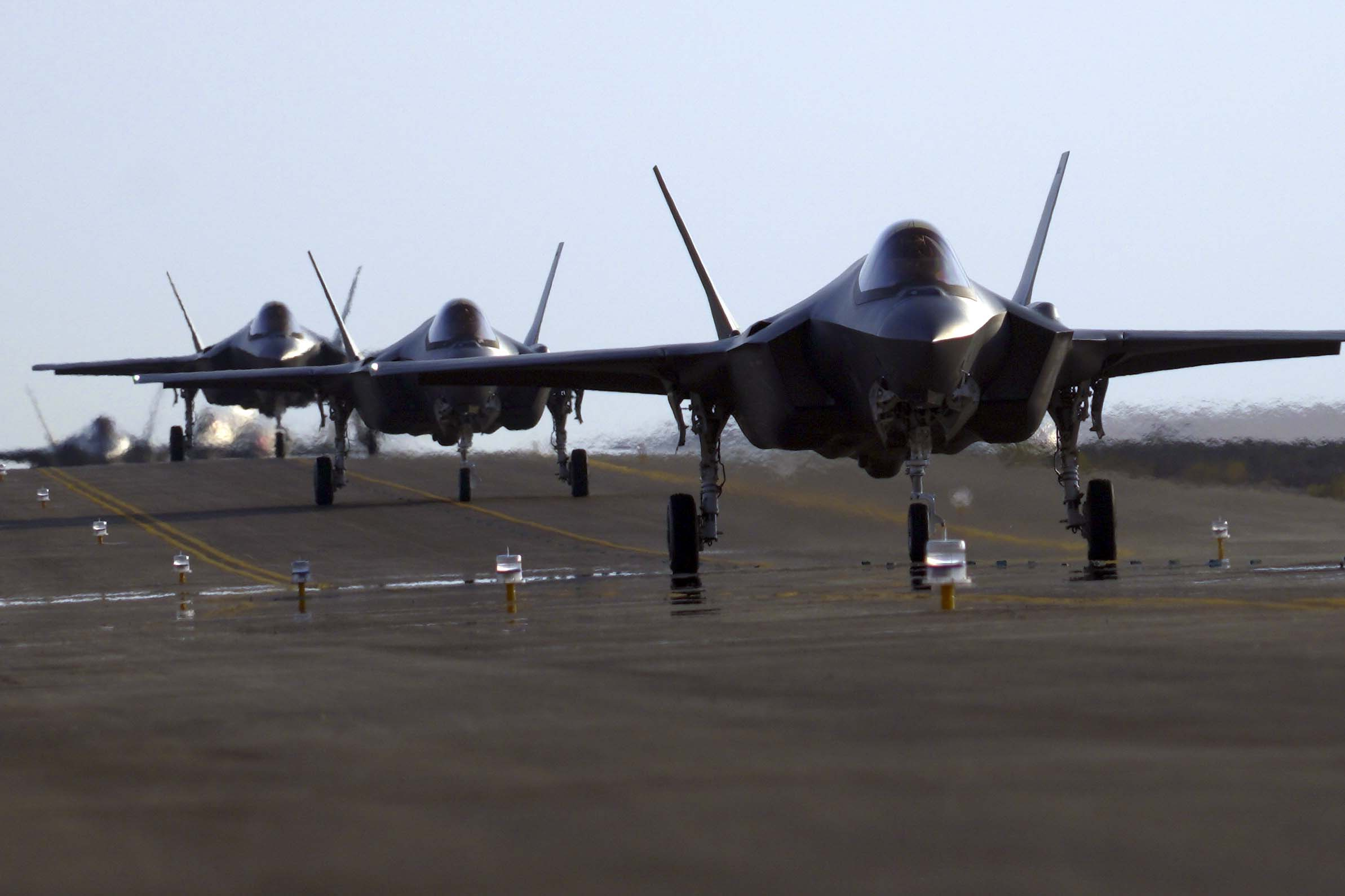 F-35A Lightning II Aircraft, US Air Force, Return To Al Dhafra Air Base