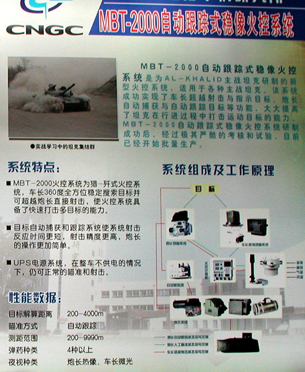 MBT2000 fire control system(used in AL-KHALID)