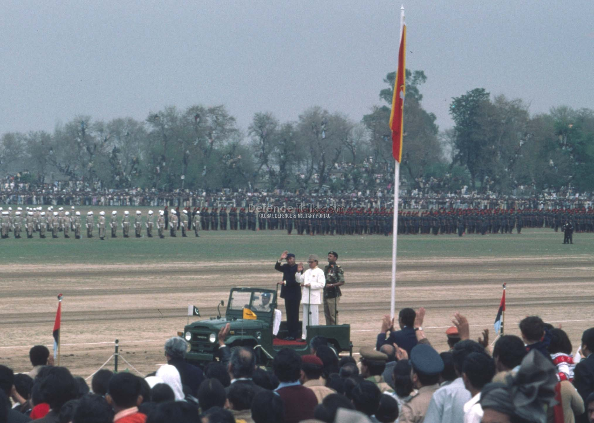 PM Bhutto Saluting - Pak National Day Parade, March 1976