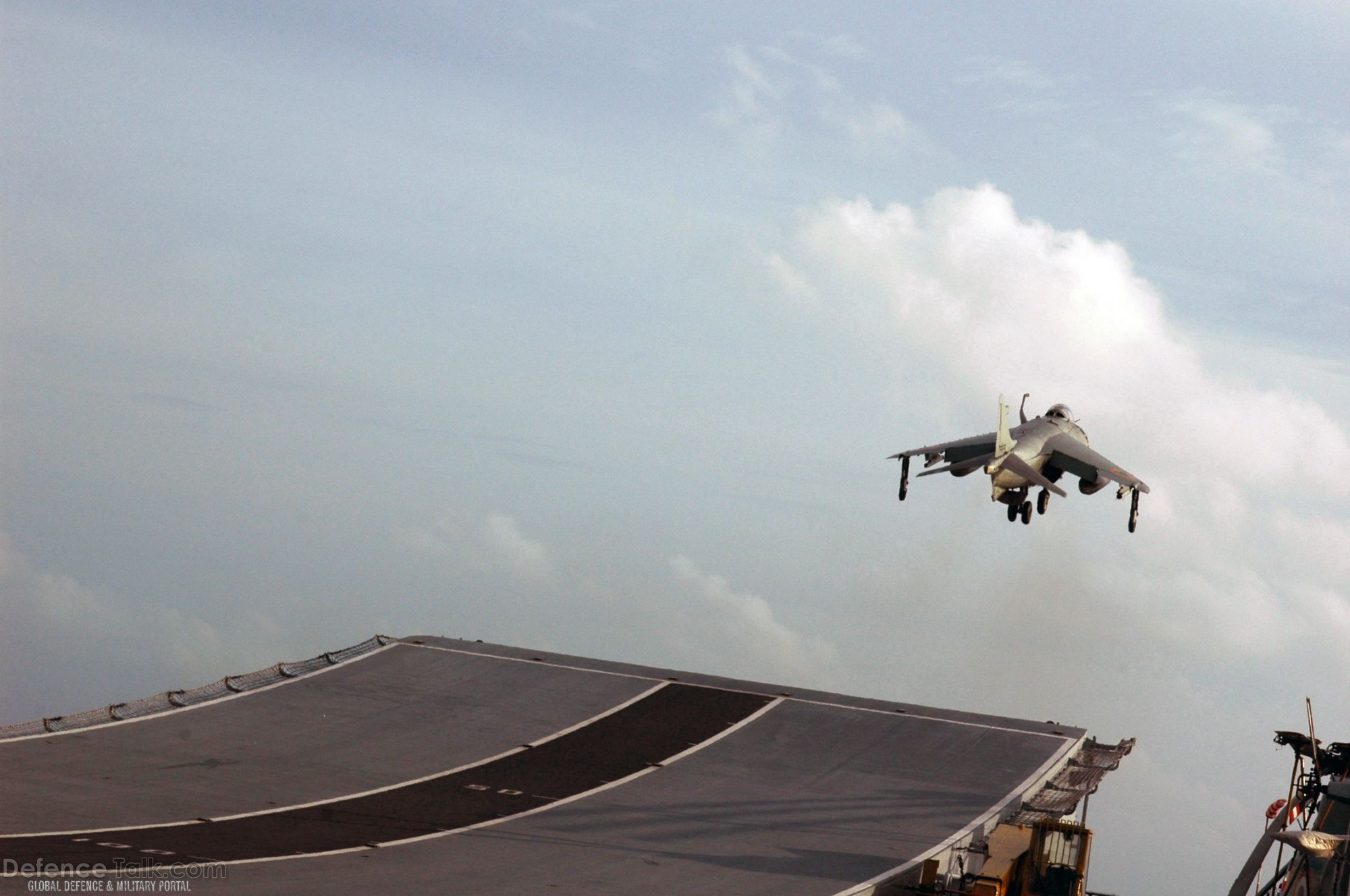Sea Harrier takes off - Malabar 07 Naval Exercise