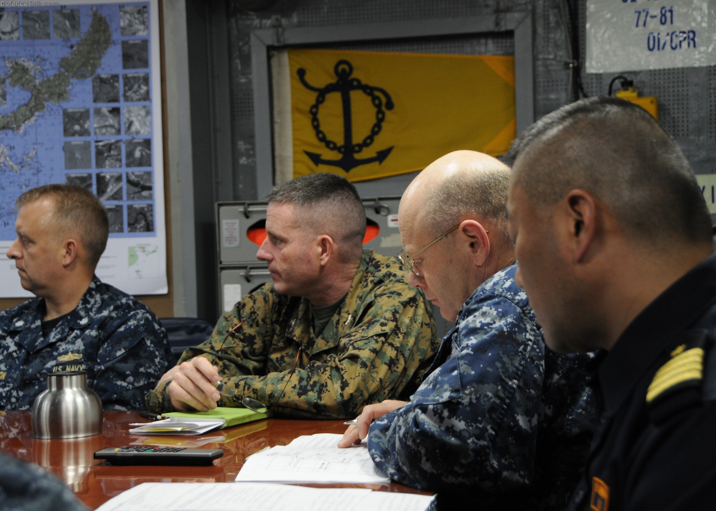 Senior leadership from the USN, Marines