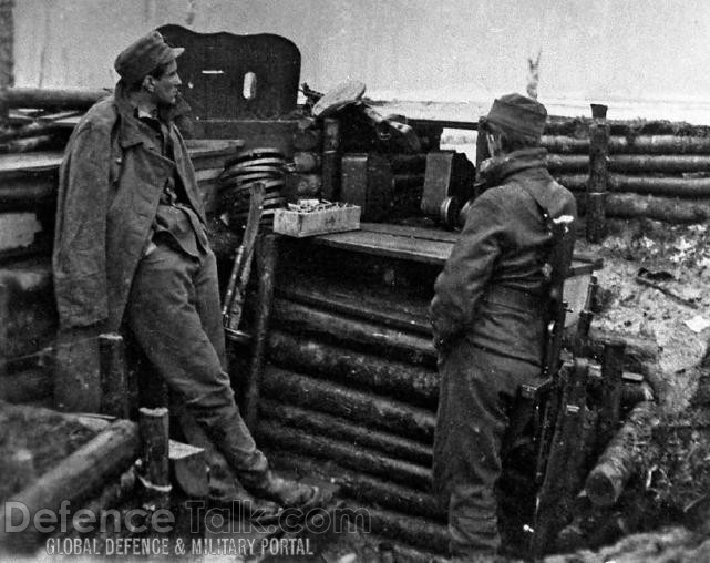 Swedish soldiers at the front - Finnish-Russian war