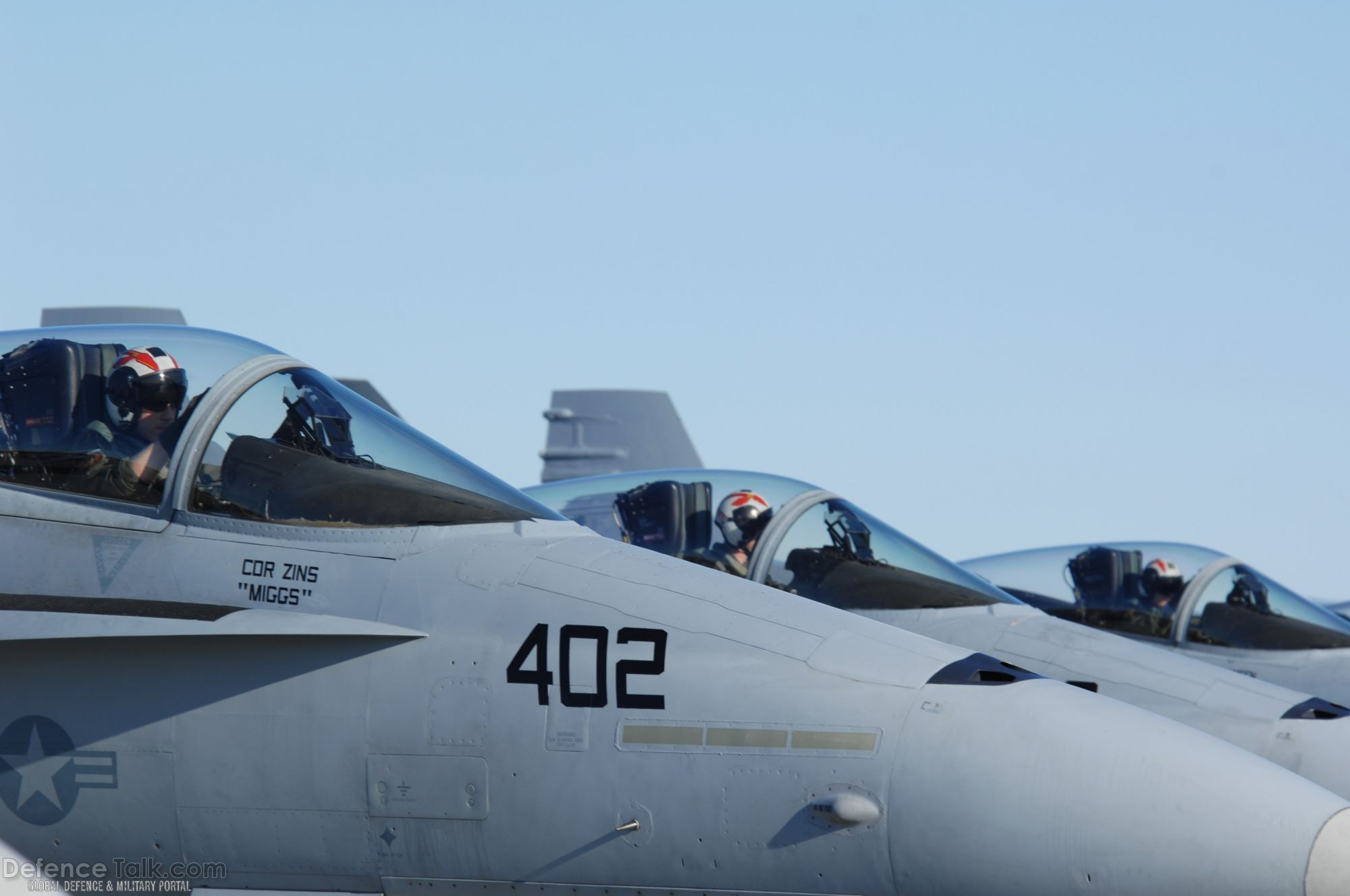 Three Navy F/A-18 pilots - US Air Force Exercise