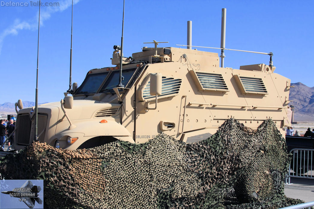 US Army  MRAP Armored Vehicle