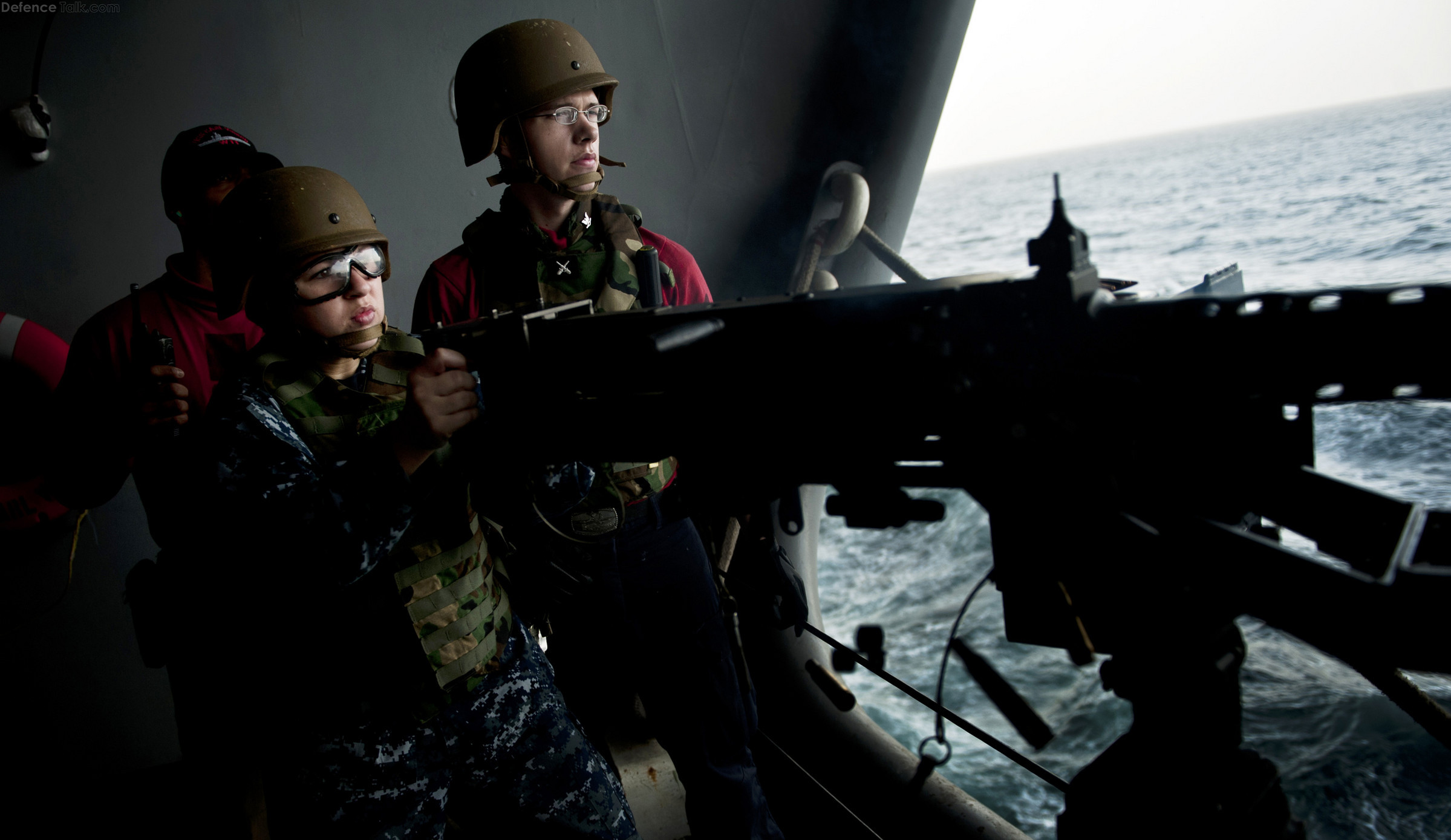 US Navy  machine gun firing exercise