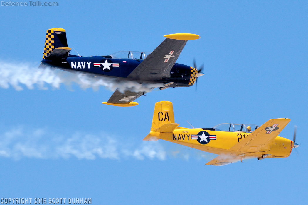 US Navy SNJ Trainer Aircraft