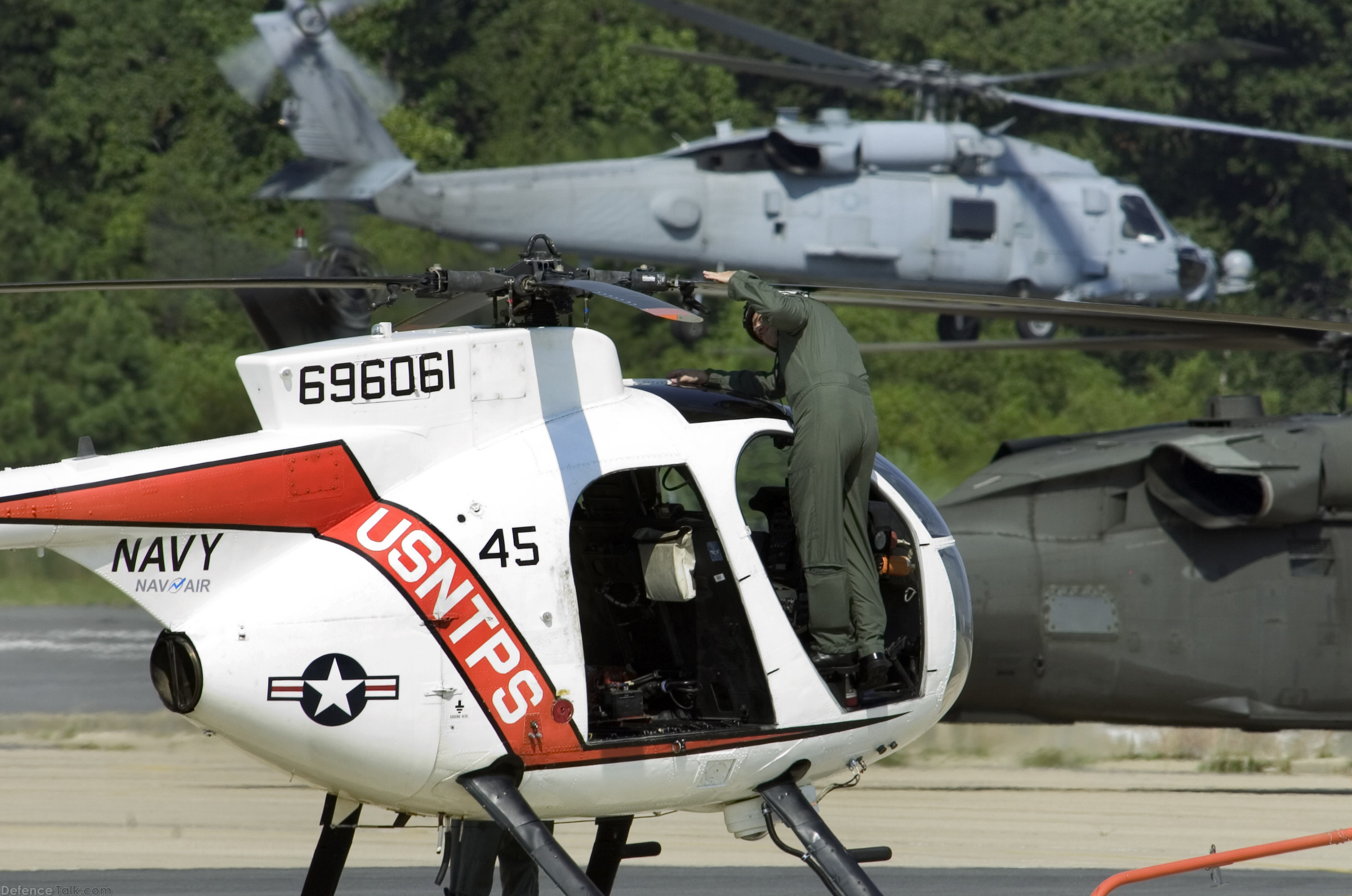 US Navy TH-6B Cayuse Helicopter