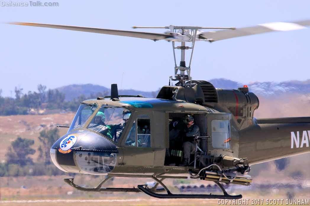 US Navy UH-1 Huey Helicopter Gunship