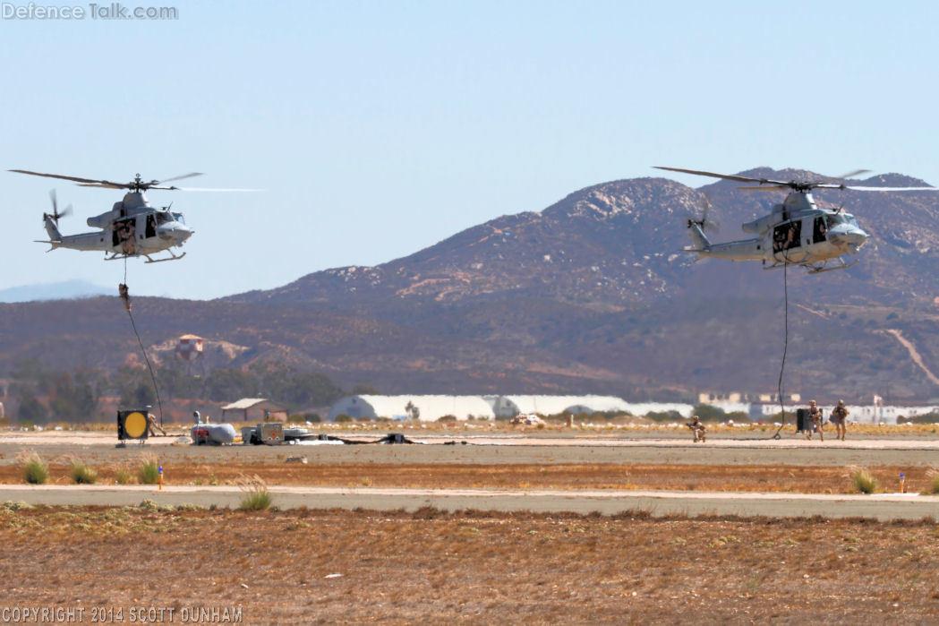 USMC UH-1Y Troop Insertion