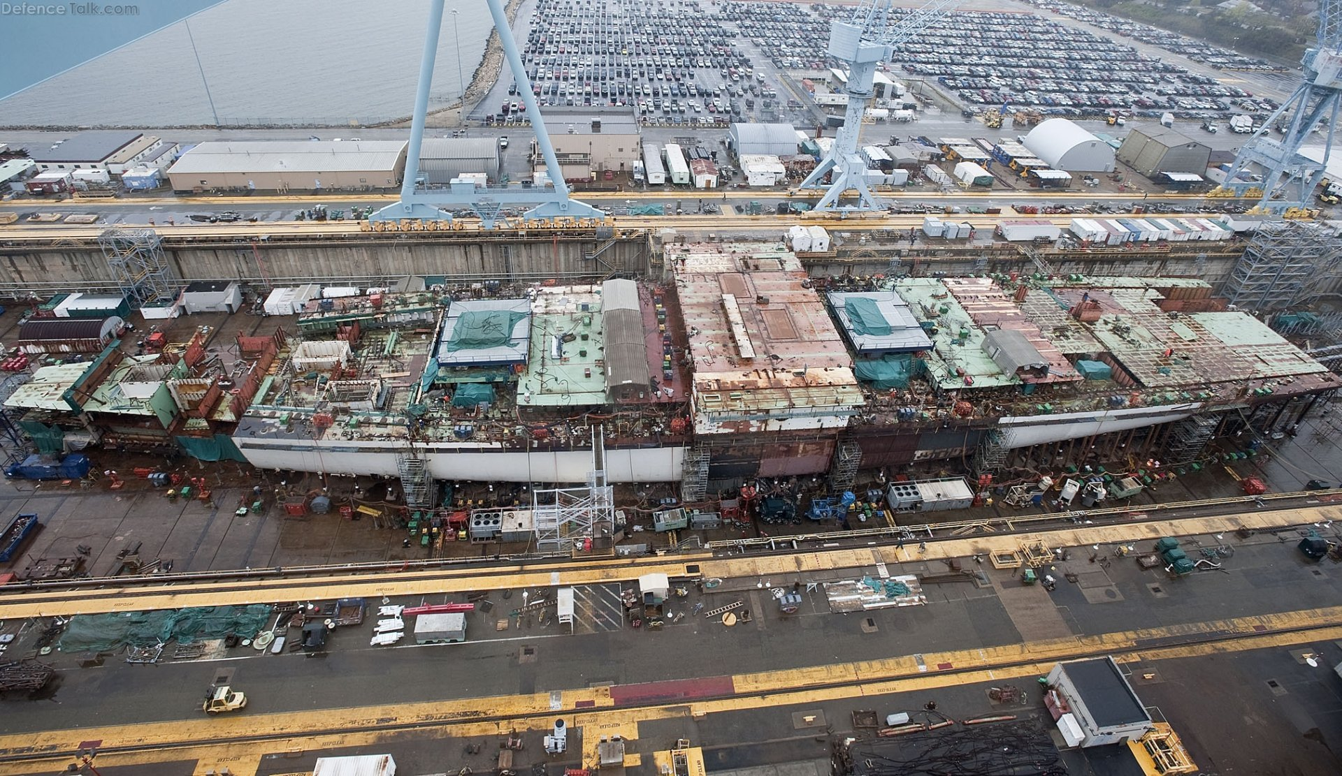 USS Gerald R. Ford, CVN-78 50% complete