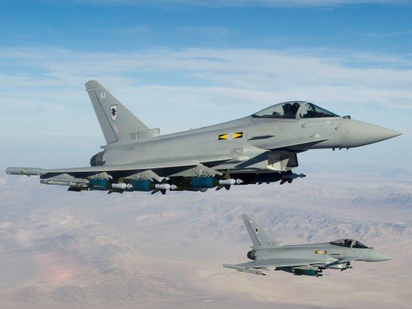 Royal Air Force Typhoons Intercept Mul...