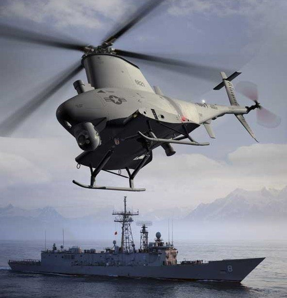 US Navy MQ-8B Fire Scout Shines At Sea