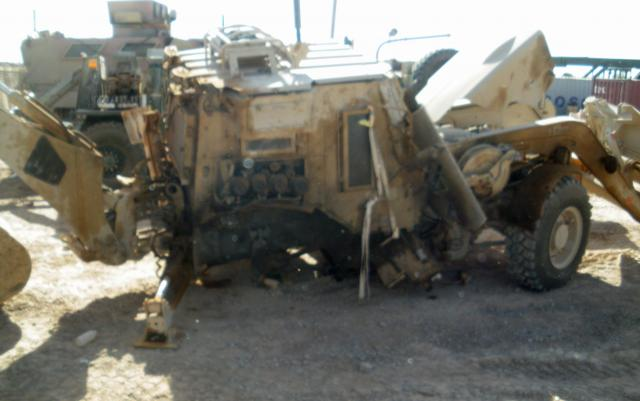 New engineer excavator stands up to anti-tank mine