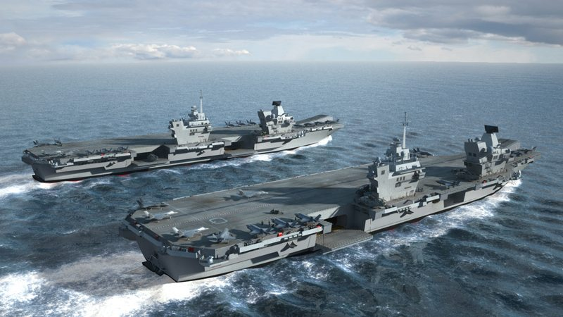 Construction of Royal Navy's New Aircraft Carriers Begins