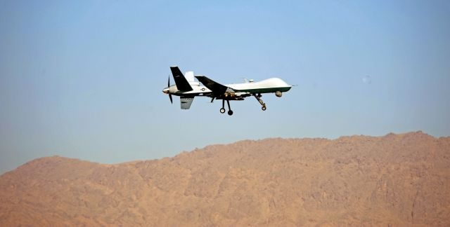 U.S. Drones Fly over Syria