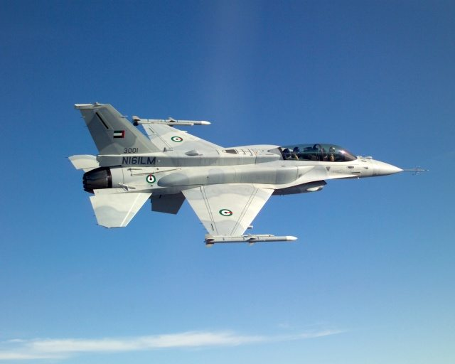UAE F-16F Block 60 fighter aircraft