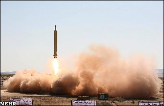 Iran test fires surface-to-surface missile