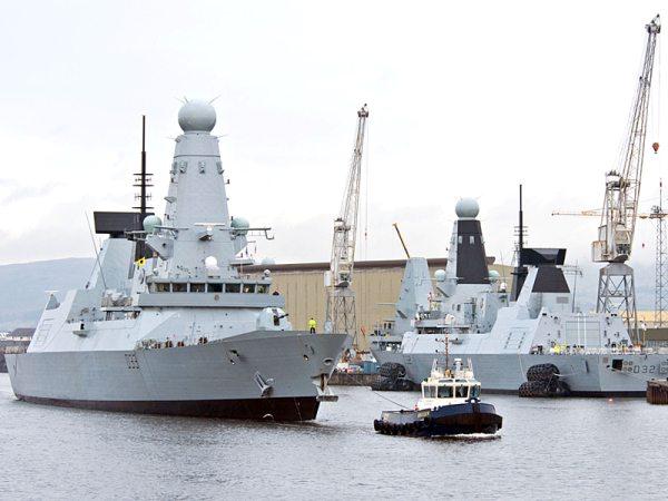 UK Type 45 Air Defense Destroyer Heads...
