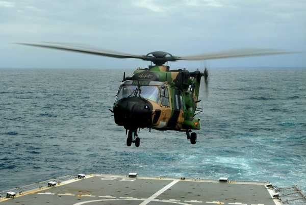 Australian Navy Commissions 808 Squadron and New MRH 90 Helicopter