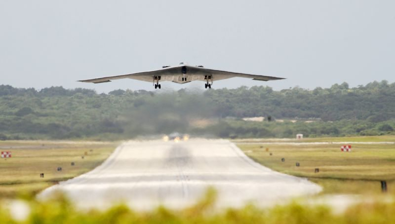 B-2 Bombers arrive at Andersen AFB