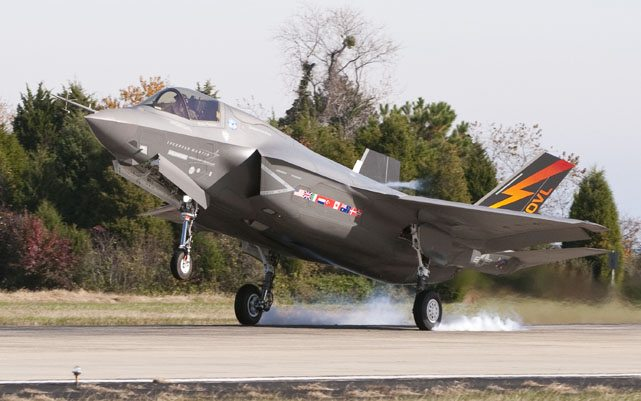 F-35B at Pax River, Marine Corps