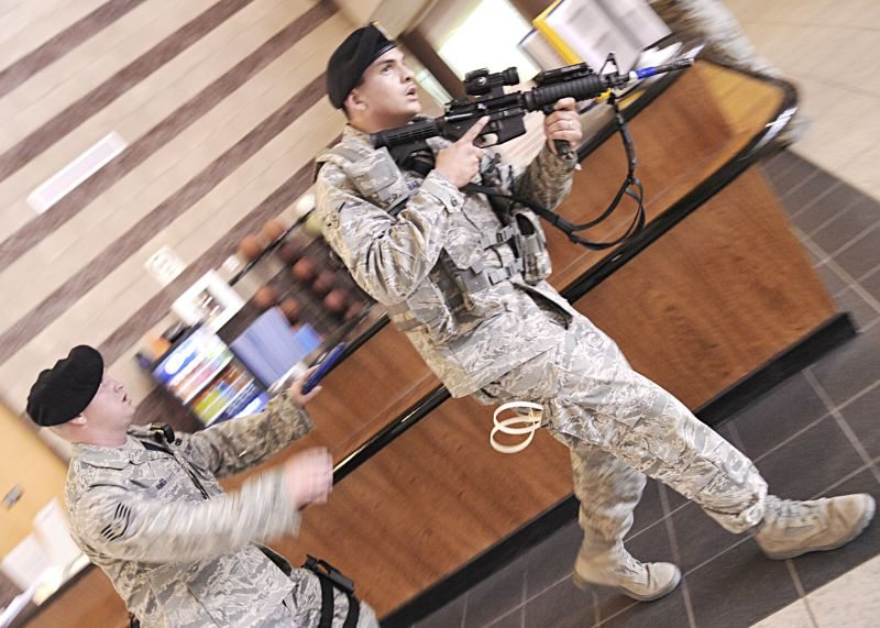 Holloman Airmen train for worst in active shooter exercise