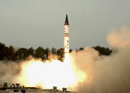 India's missile shield test fails: Officials