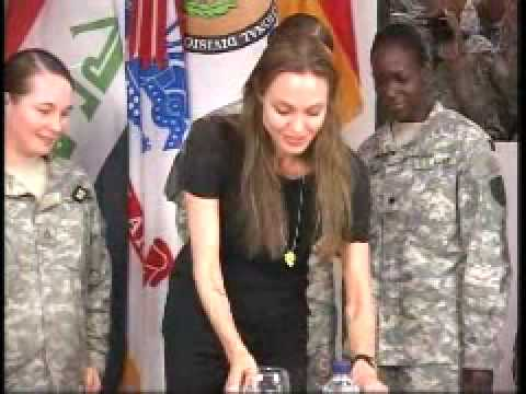 Angelina Jolie Visits Troops in Iraq