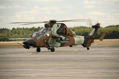 SAPHIR-M decoy systems for Spanish Tiger Attack Helicopter Self Protection