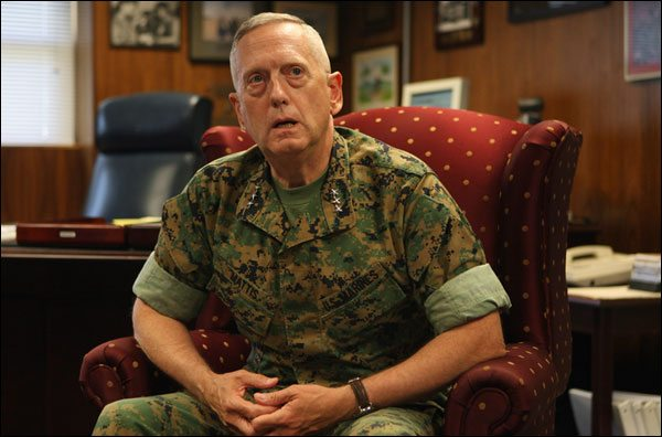 Mattis named overall US commander of Iraq, Afghan wars