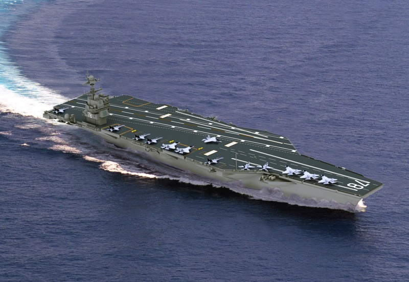 Construction Continues for the Next-Generation Aircraft Carrier, CVN 78