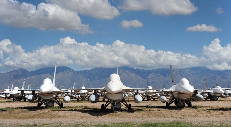 Maintainers resurrect F-16s that will become targets