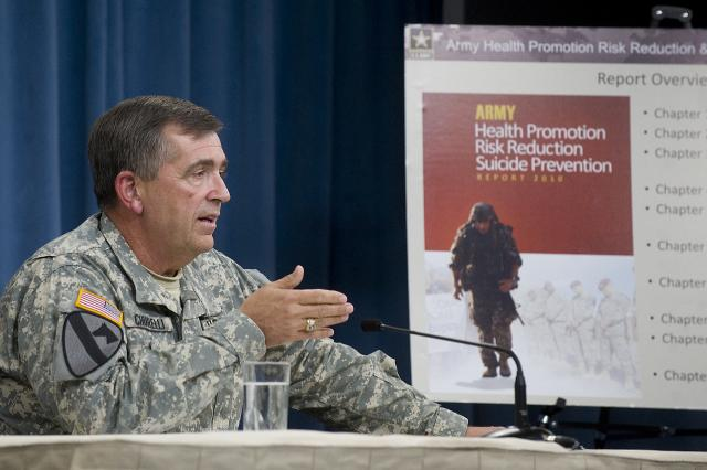Army releases report on suicide, high-risk behavior