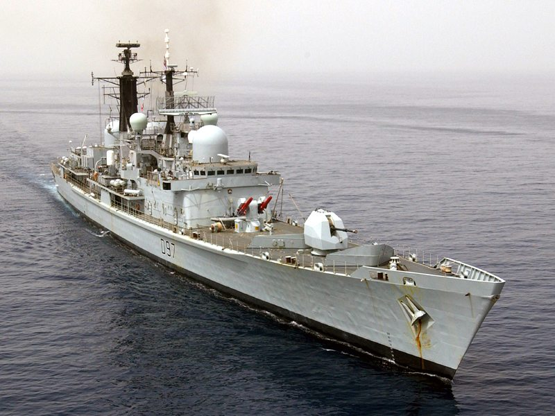 Last Type 42 Destroyer Returns from Fi...